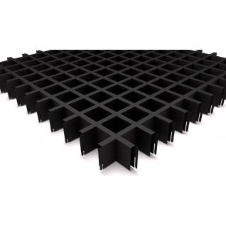 Грильято потолок 50х50 H-40 черный