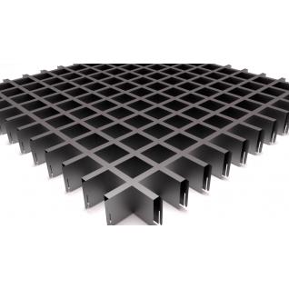 Грильято потолок 50х50  H-40 металлик