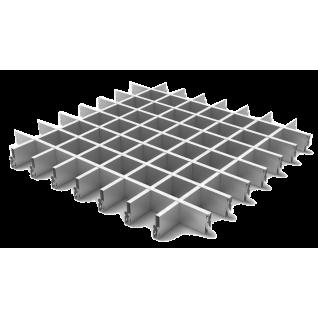 Грильято потолок 75x75 H-40 металлик
