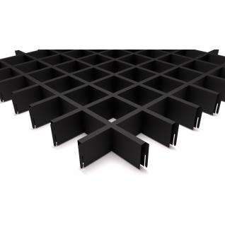 Грильято потолок 75x75 H-40 черный