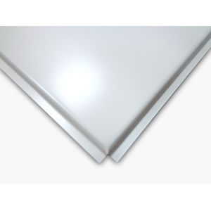 Панель Албес AP600 A6/45°/Т-24-Е белая оцинковка А903