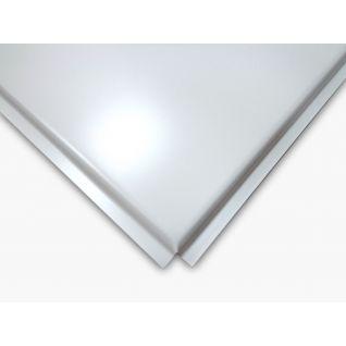 Кассетный потолок стальной AP600A6/45°/Т-24 белый матовый