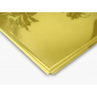 Кассетный потолок алюминиевый AP600A6/45°/Т-24 цвет золото