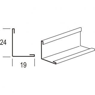 Угол пристенный алюминиевый 19*24*3000 мм (белый)