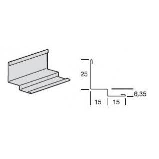 Пристенный молдинг Армстронг PRELUDE 3050x25x15x6,35x15 мм для плит с кромкой Tegular
